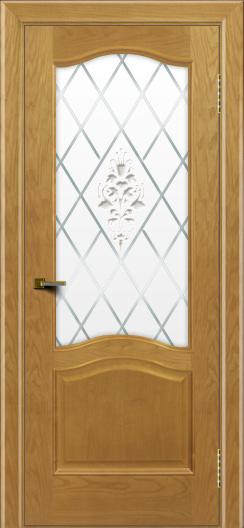 Двери ЛайнДор Пронто ясень тон 24 стекло Лилия