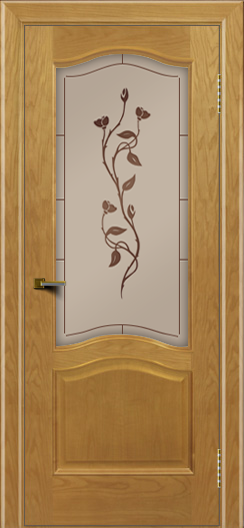 Двери ЛайнДор Пронто ясень тон 24 стекло Маки