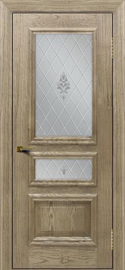 Двери ЛайнДор Агата тон 41 стекло Лилия