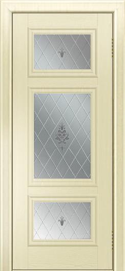 Двери ЛайнДор Афина тон 42 стекло Лилия