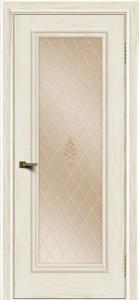 Двери ЛайнДор Валенсия тон 36 стекло Лилия бронза