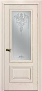 Двери ЛайнДор Виолетта жемчуг тон 27 стекло Версаль