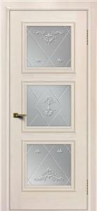 Двери ЛайнДор Грация жемчуг тон 27 стекло Прима