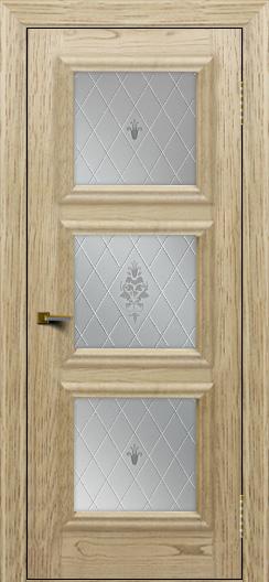 Двери ЛайнДор Грация тон 40 стекло Лилия