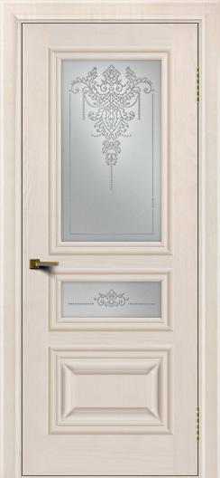 Двери ЛайнДор Агата Жемчуг тон 27 стекло Версаль