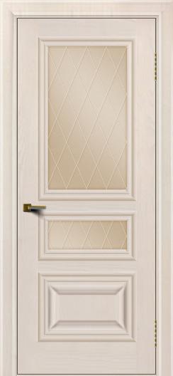 Двери ЛайнДор Агата Жемчуг тон 27 стекло Лондон бронза