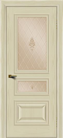 Двери ЛайнДор Агата тон 34 стекло Лилия бронза