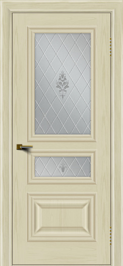 Двери ЛайнДор Агата тон 34 стекло Лилия
