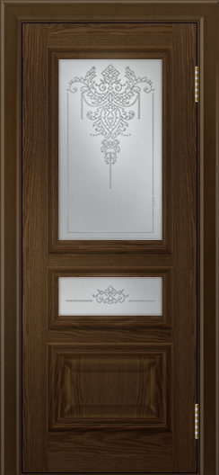 Двери ЛайнДор Агата тон 35 глухая стекло Версаль