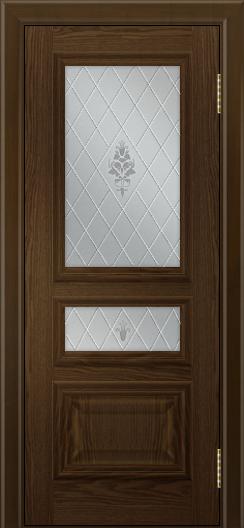 Двери ЛайнДор Агата тон 35 глухая стекло Лилия