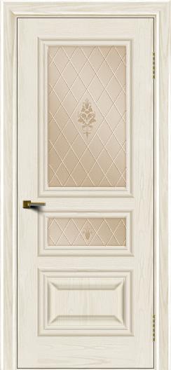 Двери ЛайнДор Агата тон 36 стекло Лилия бронза