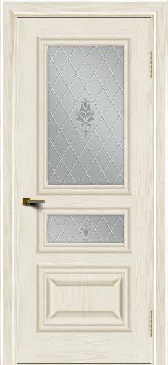 Двери ЛайнДор Агата тон 36 стекло Лилия