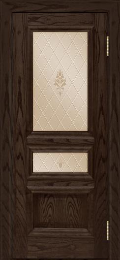Двери ЛайнДор Агата тон 39 стекло Лилия бронза