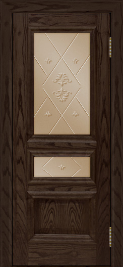 Двери ЛайнДор Агата тон 39 стекло Прима бронза