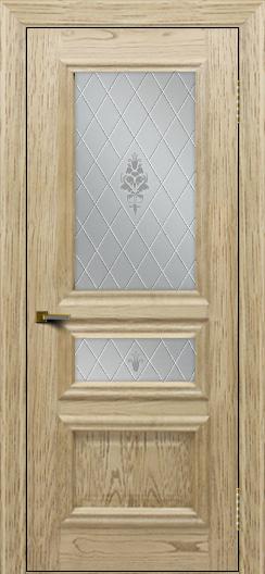 Двери ЛайнДор Агата тон 40 стекло Лилия