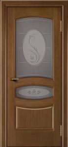 Двери ЛайнДор Алина дуб тон 5 стекло Алина бронза
