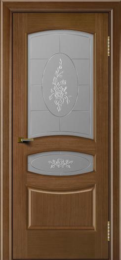Двери ЛайнДор Алина дуб тон 5 стекло Роза