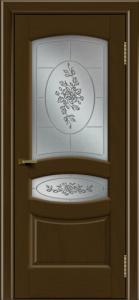 Двери ЛайнДор Алина 2 тон 29 стекло 3Д Роза