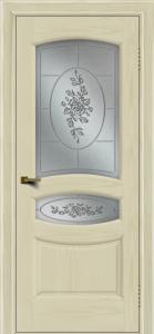Двери ЛайнДор Алина 2 тон 34 стекло 3Д Роза