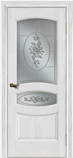 Двери ЛайнДор Алина 2 тон 38 стекло 3Д Роза