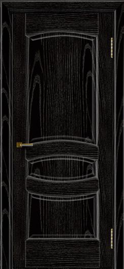 Двери ЛайнДор Алина 2 эмаль черная тон 26 глухая