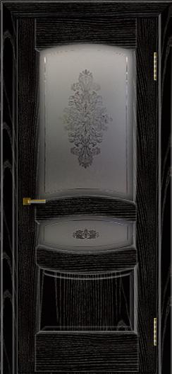 Двери ЛайнДор Алина 2 эмаль черная тон 26 стекло Алина 2