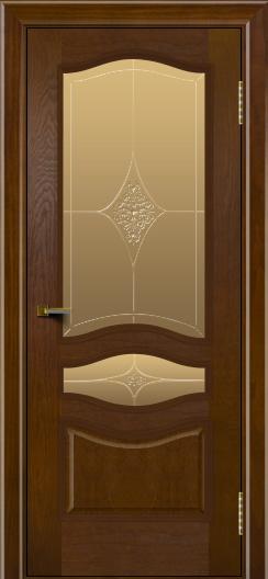 Двери ЛайнДор Амелия тон 30 стекло Амелия бронза