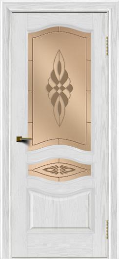 Двери ЛайнДор Амелия тон 38 стекло Византия бронза