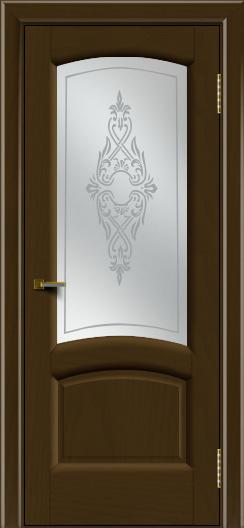 Двери ЛайнДор Анталия 2 тон 29 стекло Айрис сатин