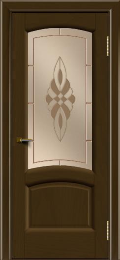 Двери ЛайнДор Анталия 2 тон 29 стекло Византия бронза