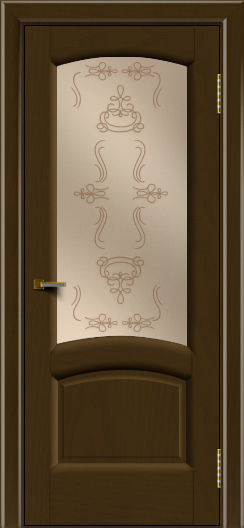 Двери ЛайнДор Анталия 2 тон 29 стекло Пальмира бронза
