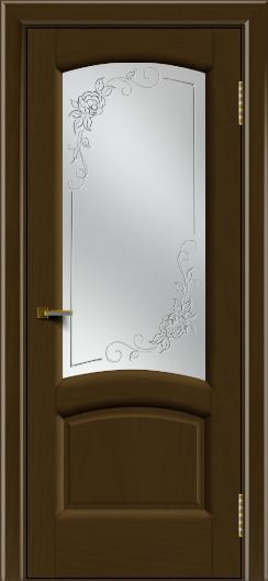 Двери ЛайнДор Анталия 2 тон 29 стекло 3Д Роза