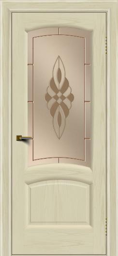 Двери ЛайнДор Анталия 2 тон 34 стекло Византия бронза