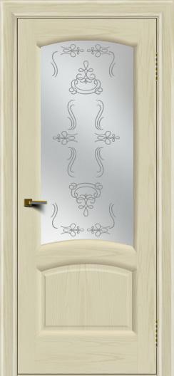Двери ЛайнДор Анталия 2 тон 34 стекло Пальмира сатин