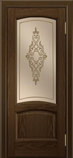 Двери ЛайнДор Анталия 2 тон 35 стекло Айрис