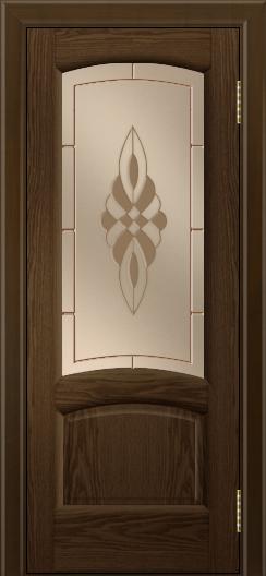 Двери ЛайнДор Анталия 2 тон 35 стекло Византия бронза