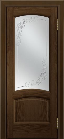 Двери ЛайнДор Анталия 2 тон 35 стекло 3Д Роза