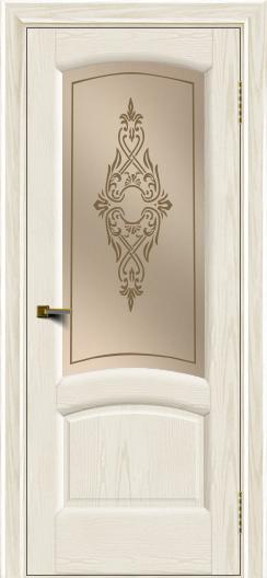 Двери ЛайнДор Анталия 2 тон 36 стекло Айрис бронза