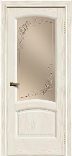 Двери ЛайнДор Анталия 2 тон 36 стекло 3Д Роза бронза