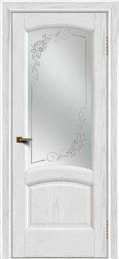Двери ЛайнДор Анталия 2 тон 38 стекло 3Д Роза