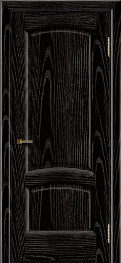 Двери ЛайнДор Анталия 2 эмаль черная тон 26 глухая