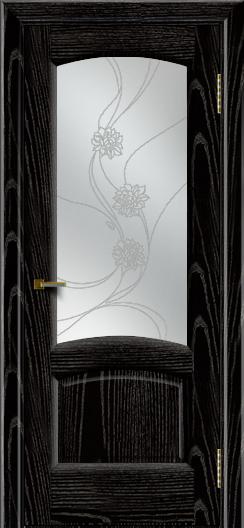 Двери ЛайнДор Анталия 2 эмаль черная тон 26 стекло Астра наливка