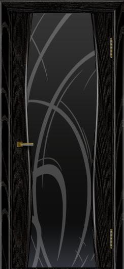 Двери ЛайнДор Арабика черная эмаль тон 26 стекло Арабика