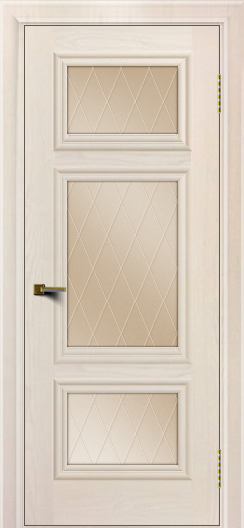 Двери ЛайнДор Афина Жемчуг тон 27 стекло Лондон бронза