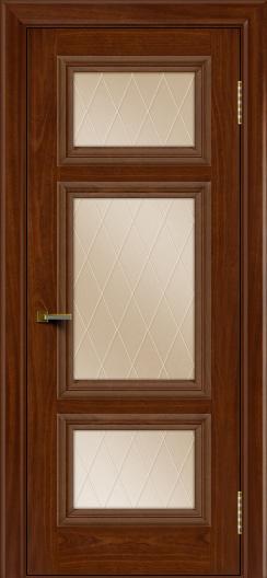 Двери ЛайнДор Афина красное дерево тон 10 стекло Лондон бронза