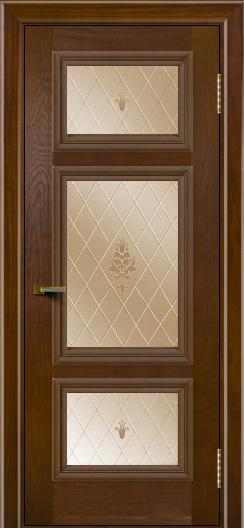 Двери ЛайнДор Афина тон 30 стекло Лилия бронза
