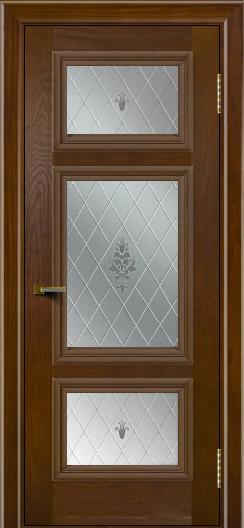 Двери ЛайнДор Афина тон 30 стекло Лилия