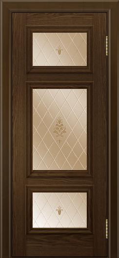 Двери ЛайнДор Афина тон 35 стекло Лилия бронза