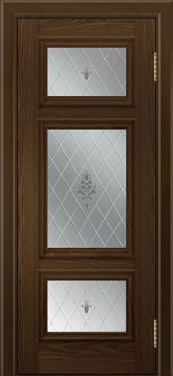 Двери ЛайнДор Афина тон 35 стекло Лилия