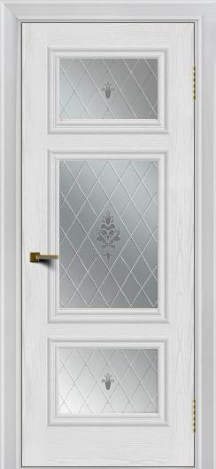 Двери ЛайнДор Афина тон 38 стекло Лилия